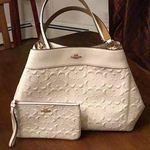 Coach Lexy handbag & Wristlet BUNDLE